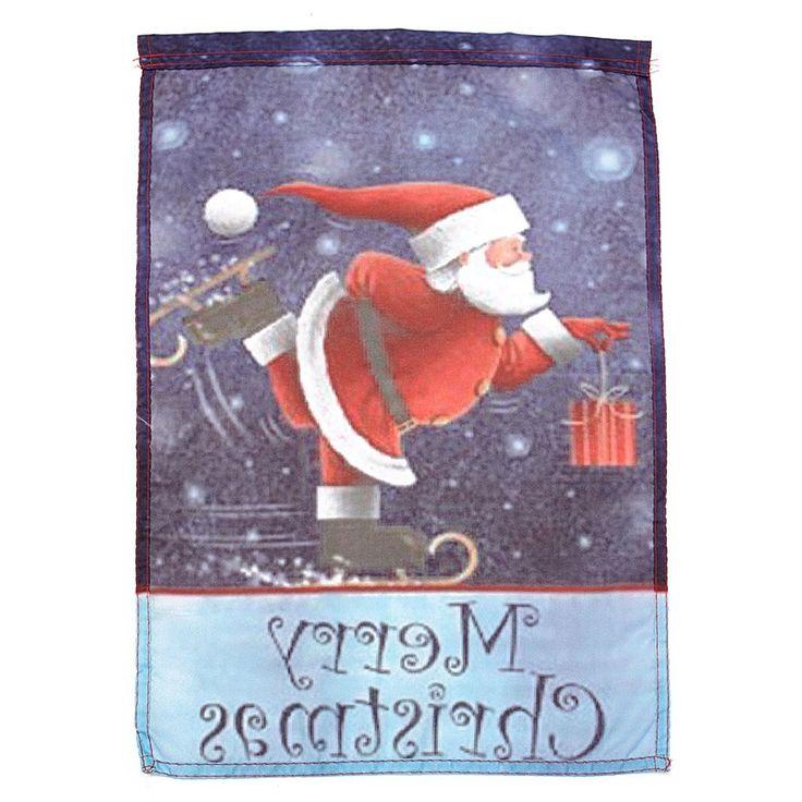 Schaatsen Kerstman Vrolijk Kerstfeest Tuin Vlaggen Vakantie Yard Banner Huis Decor Kerstcadeau in  materiaal: Polyesterkleur: Als foto getoondSize :( L) X (W) 45X30 cm/17.72 '' X 11.81 '' (ca.)p van   op AliExpress.com | Alibaba Groep