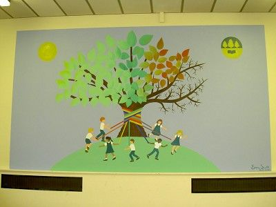 Little Angels Murals - two tree school murals