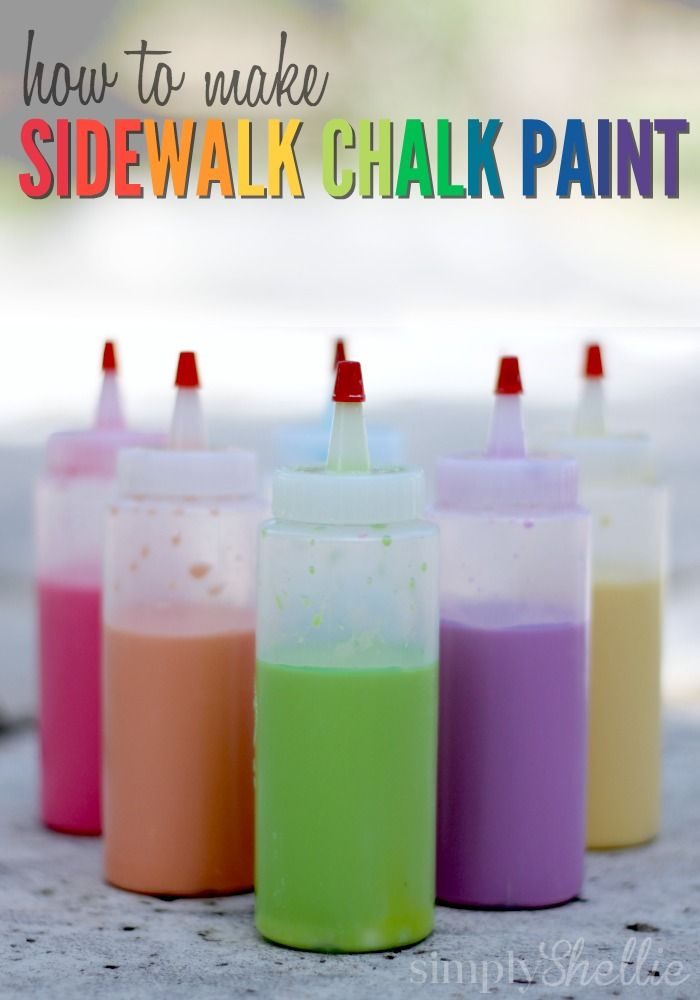 Making Sidewalk Chalk Paint is one of my favorite activities for kids. Such fun alternative to traditional chalk and oh-so-easy to whip up. Many chalk paint recipes require you to grind up chalk and mix it with water to make the paint. Who has time for that! This is so much faster and easier.