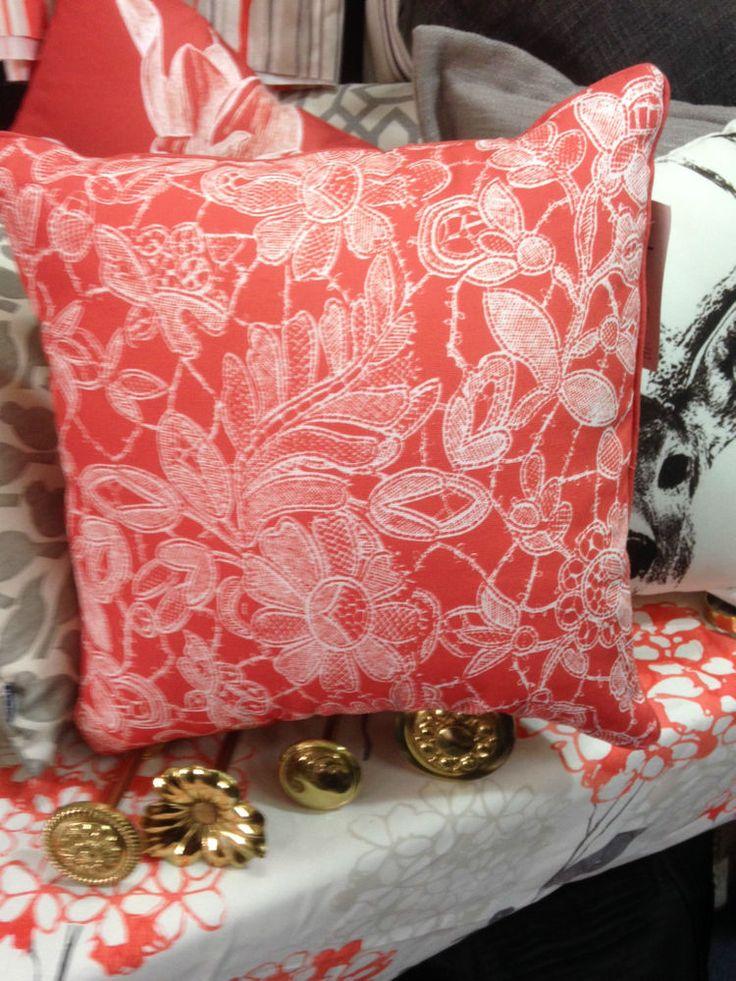 Zaab Homewares Floral Cushion-Orange -45cm x 45 cm with Zip