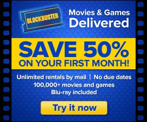 Start watching unlimited DVD�s and Bluray�s! Rent movies by mail with Blockbuster! Get half off your first two months with no due dates and many new releases available 28 days before Redbox and Netflix. Includes Blu-ray and games!