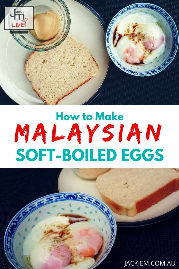 Malaysian soft-boiled eggs are distinct from regular soft-boiled eggs in that the egg whites are soft and gelatinous, I show you how it's properly done. Subscribe for more FREE recipes & tips at http://jackiem.com.au/contact/subscribe/