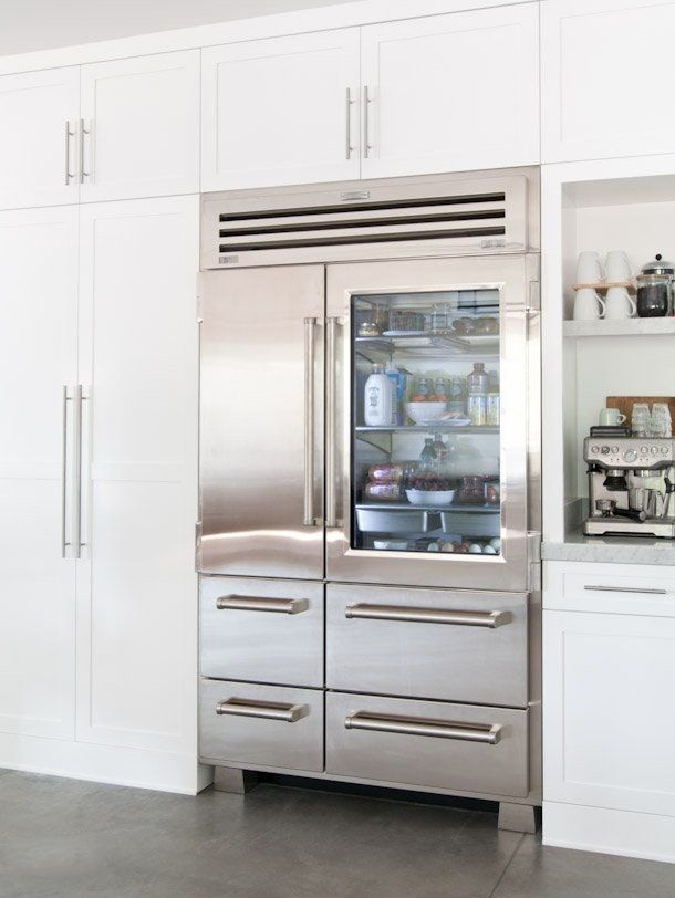 Want To Keep Your Fridge Organized Buy One With A Glass Door Glass Door Refrigerator Floor To Ceiling Cabinets Kitchen Appliance Trends