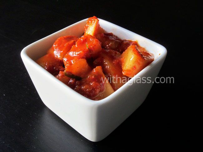 Kkakdugi (깍두기), or Cubed Radish Kimchi | Korean Banchan ...