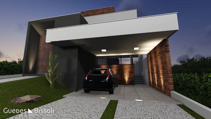 Projeto de iluminação externa elaborado pelo escritório de arquitetura Guedes e Bissoli.