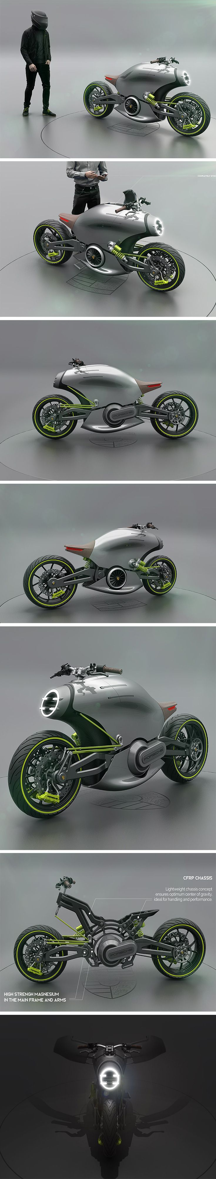 The 618 is a two-wheeled twist on the Porsche brand that takes direct inspiration from the 911 turbo. The result is an electric retro-modern power cruiser with a sporty silhouette that essentially looks like half a Porsche sportscar!