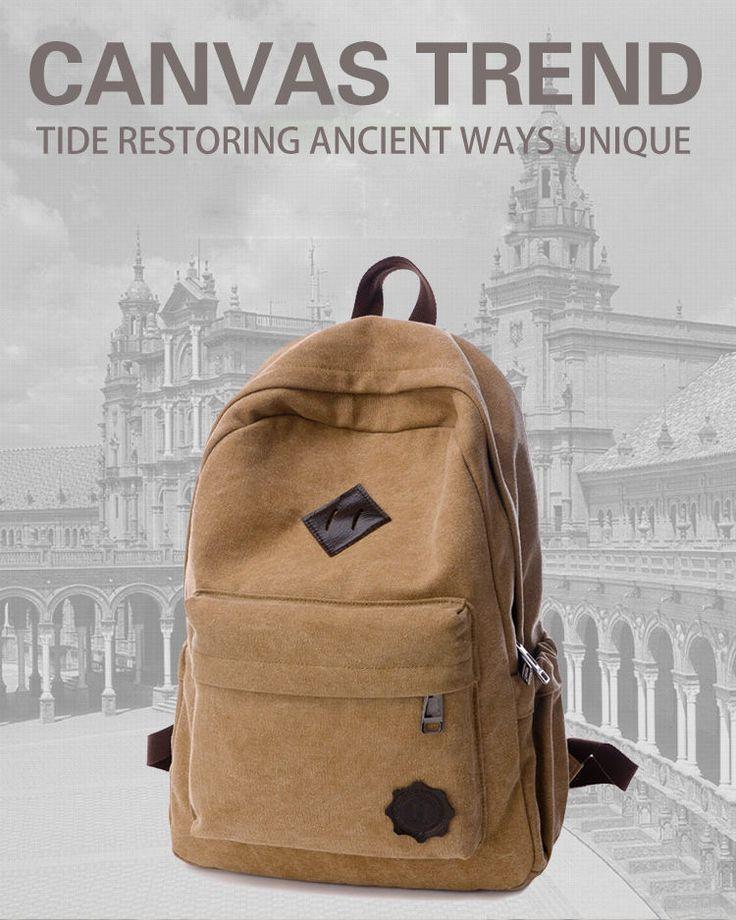 Travel Camping Bag,Men's Vintage Backpack Rucksack Laptop Shoulder