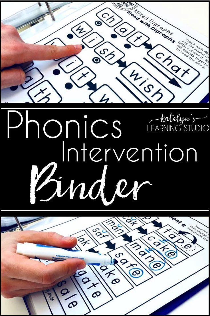 Elementary beginning reading intervention binder to teach phonics patterns to struggling students in kindergarten or first grade.