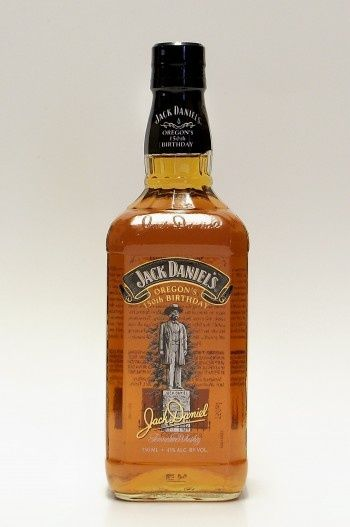 Jack Daniel's Oregon's 150th Birthday 75cl / 43% Tennessee Whiskey A special bottling of Jack Daniel's to celebrate the 150th Anniversary of the founding of the state of Oregon. This JD has been bottled at the slightly-higher-than-usual strength of 43%.