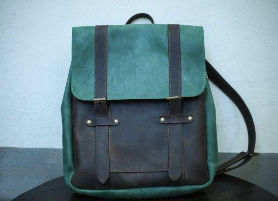 Leather backpack, mens backpack, leather back pack, leather rucksack, hipster backpack, rucksack backpack, vintage leather backpack