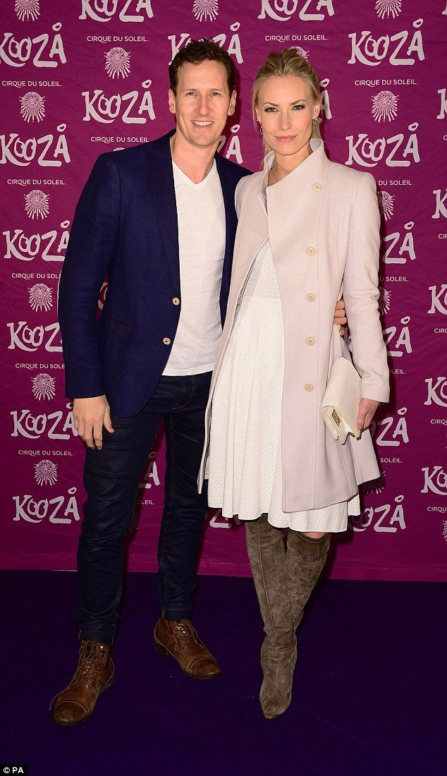 Perfect pair: Strictly professional dancer Brendan Cole and his wifeZoe Hobbs looked love...