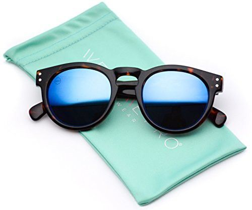 18a8166b13ba Vintage Inspired Mirror Lens Round Horned Rim Frame Retro Sunglasses ...