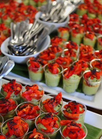 Avocado Bavarois, Red Pepper, Black Sesame