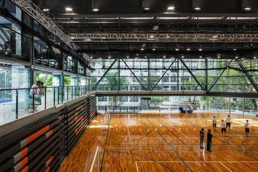 Ginásio de Esportes do Colégio São Luís,© Nelson Kon