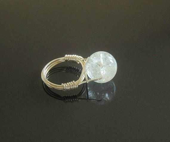 Wire wrapped rings wire wrapped crystal silver rings by styledonna