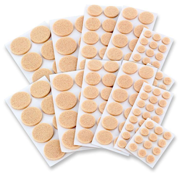 Junipers Assorted Furniture Felt Floor Protector Pads (Assorted Furniture  Pads, 6 Packs Of 152