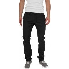 Urban Classics Straight Fit Jeans in Black Raw