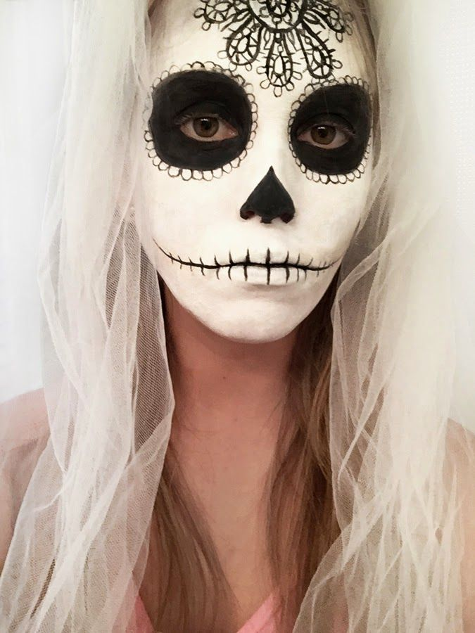 Sugar Skull Halloween Makeup | Erica's DIY Work: Sugar Skull face paint