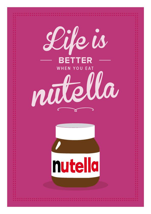 Thats all it is #nutella