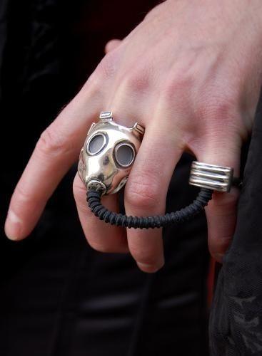 Gas mask ring.