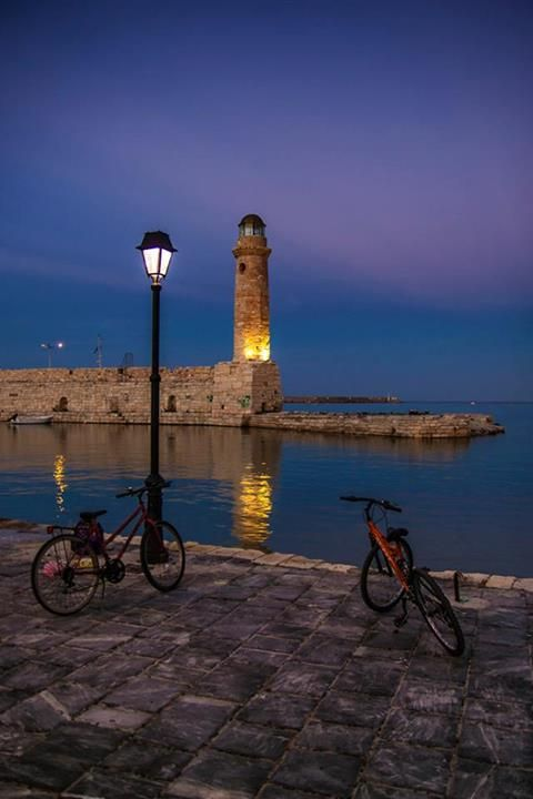 Old harbour ofRethimno Greece Art  Architecture