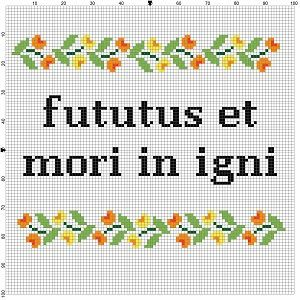 LATIN: F*ck off and die in a fire - Funny Latin Cross Stitch Pattern - Instant Download by SnarkyArtCompany on Etsy
