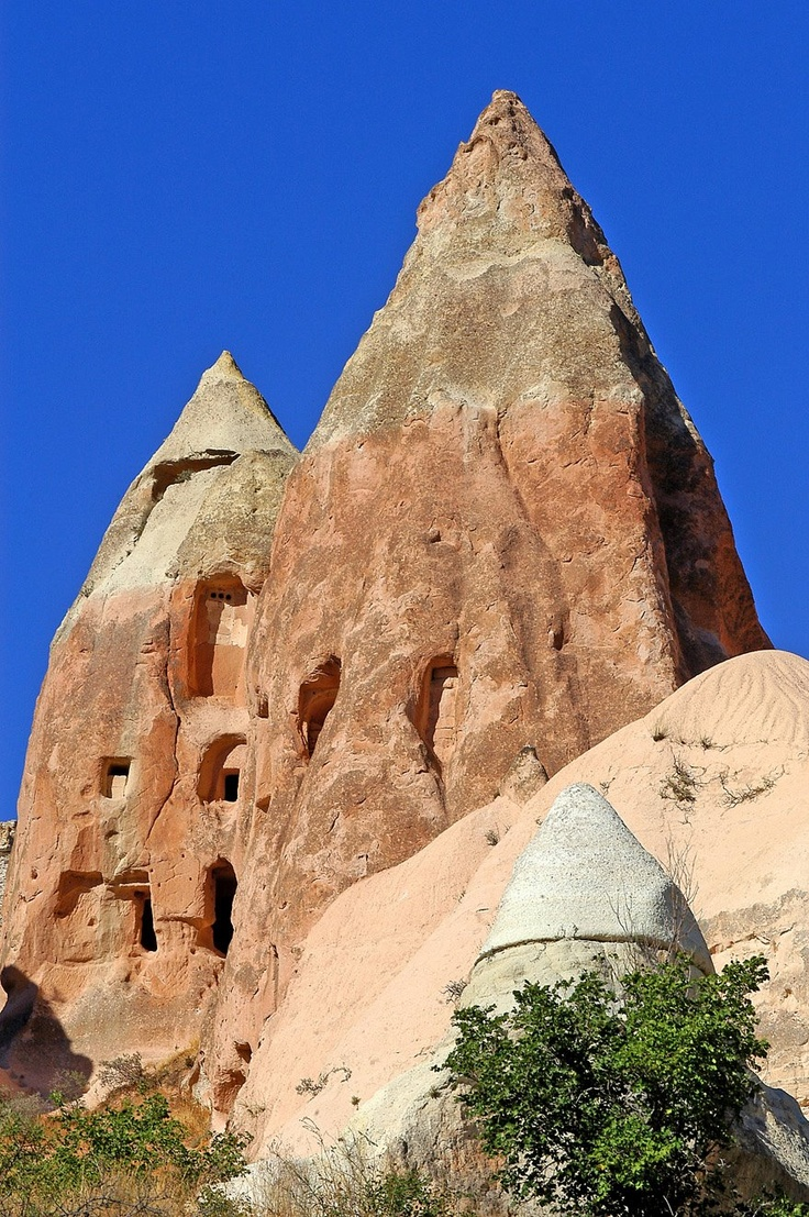 Houses in Cappadocia. Photo by Christian Clausier: Trees Houses, Christian Clausier, Photo, Weird Houses