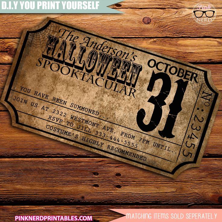 Best 25+ Adult halloween invitations ideas on Pinterest ...