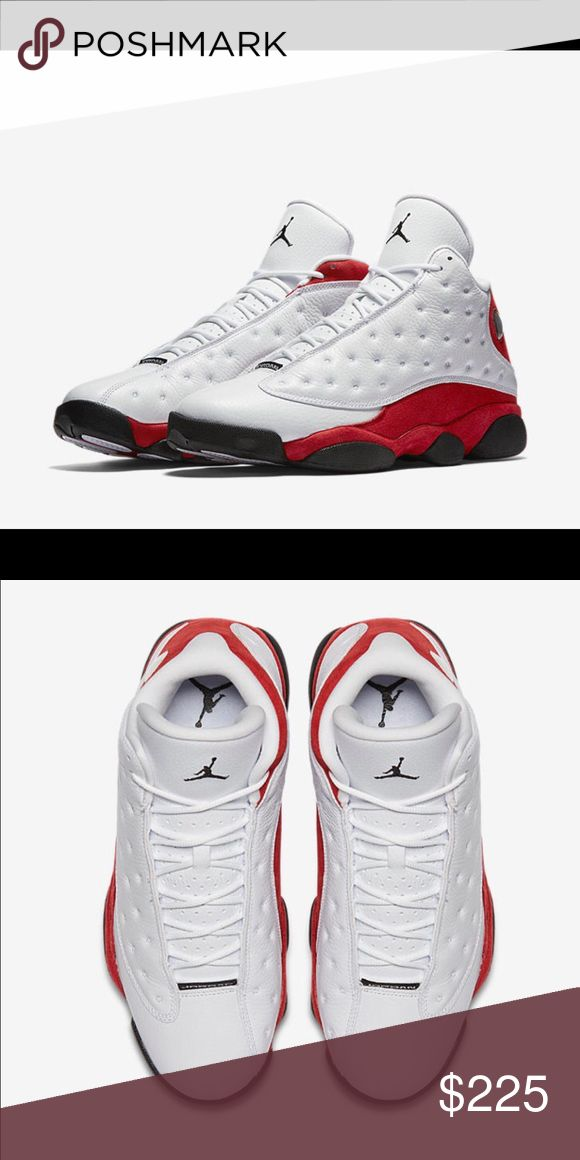 "Authentic Air Jordan XIII ""Chicago"" Brand new Jordans- Release date was 2/18 and sold out practically everywhere. Get the exclusive sneakers now! Jordan Shoes Sneakers"