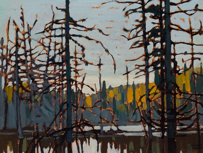 Lawren Harris - Algoma (Beaver Swamp) 10.5 x 14 Oil on wood (1920)