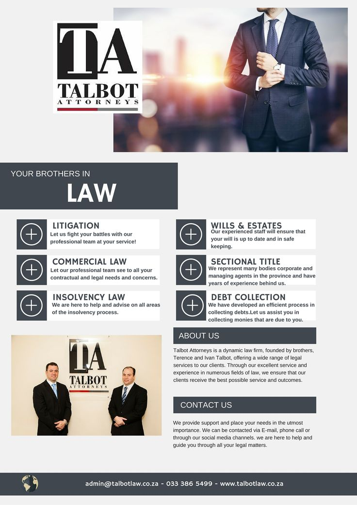 Services offered at Talbot Attorneys
