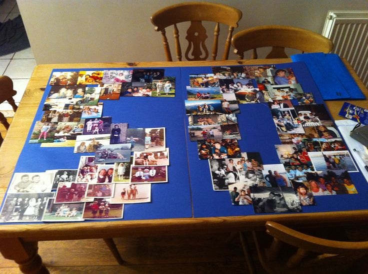 Photo montage for 50 th birthday