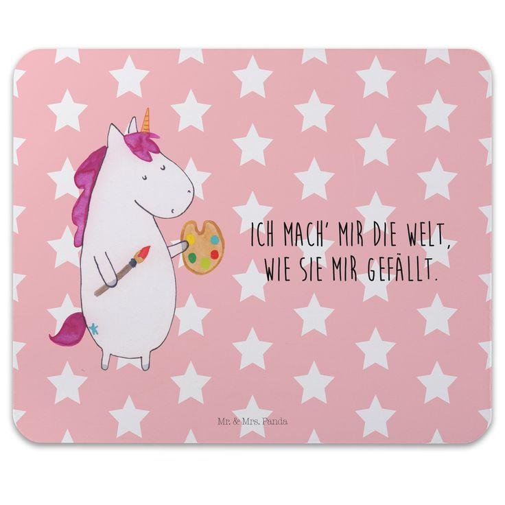 Mauspad Druck Einhorn Künstler aus Naturkautschuk  black - Das Original von Mr. & Mrs. Panda.  Ein wunderschönes Mouse Pad der Marke Mr. & Mrs. Panda. Alle Motive werden liebevoll gestaltet und in unserer Manufaktur in Norddeutschland per Hand auf die Mouse Pads aufgebracht.    Über unser Motiv Einhorn Künstler  Das Künstler-Einhorn ist das perfekte Geschenk für kreative Menschen. Wer würde sich seine Welt nicht gerne nach seinem Geschmack malen? Das Einhorn macht es vor, wir müssen es nur…