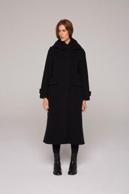 Manteau femme noir long