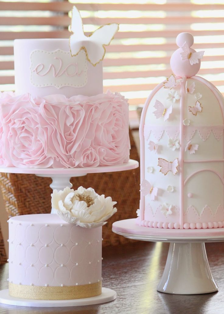 These three cakes are absolutely stunning - would be great for twins!