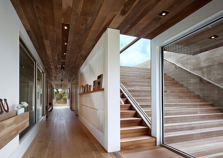 Montauk house by Bates Masi architects: Houses Interiors, Contemporary Houses, Indoor Outdoor, Masi Architects, Wood Ceilings, Genius Loci, New York, Bates Masi, Girls Style
