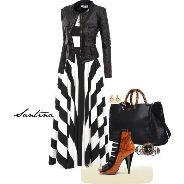 Black and white dress combination