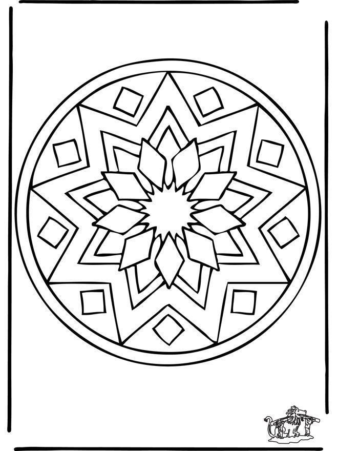 Mandala Coloring Pages Geo Mandalas 39