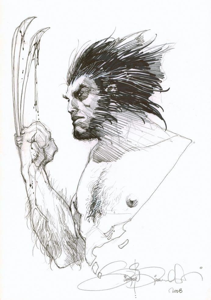 Wolverine sketch by Simone Bianchi #SNIKT
