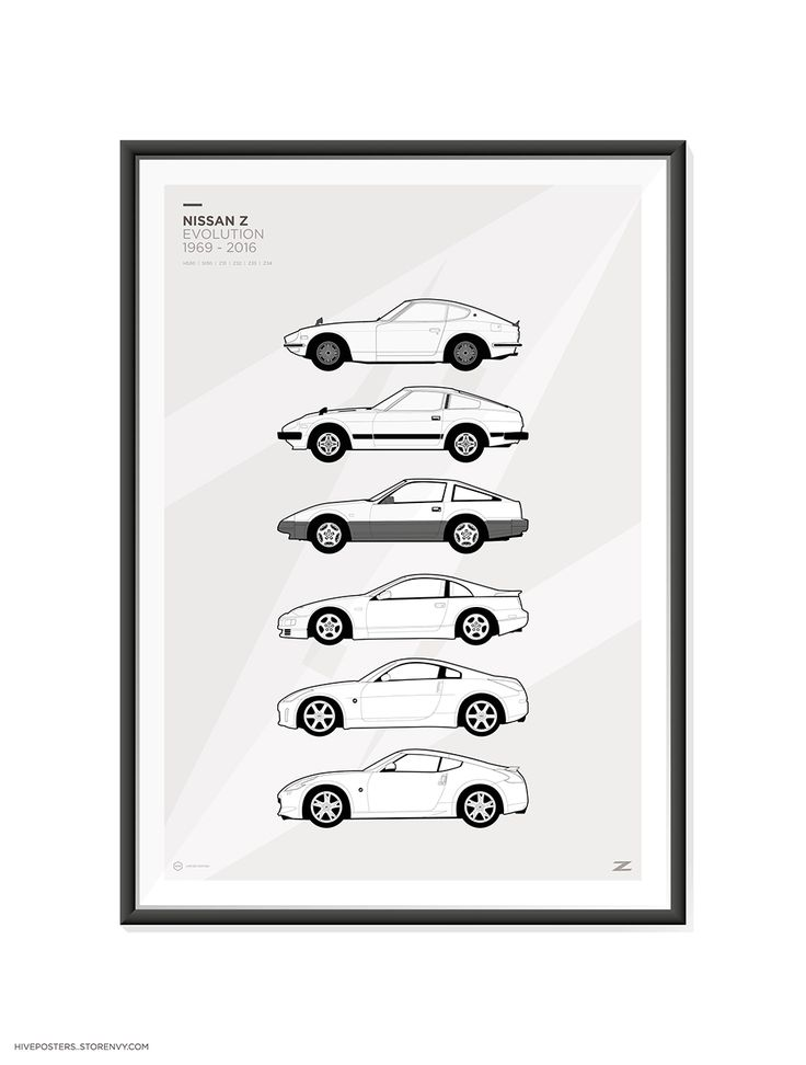 "Features+the+Nissan+/+Datsun+Z+Car+Generations.    A2+420mm+x+600mm+(23.4""+x+16.5"")    These+are+high+quality+fine+art+prints.  Printed+using+an+Epson+Stylus+Pro+printer+onto+190gsm+satin+photo+paper.  Incredible+detail,+resolution+and+vibrancy.    240Z,+260Z,+280Z,+280ZX,+300ZX,+350Z,+370Z    Fr..."