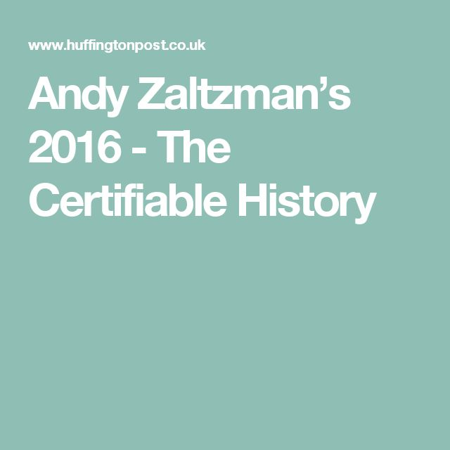 Andy Zaltzman's 2016 - The Certifiable History