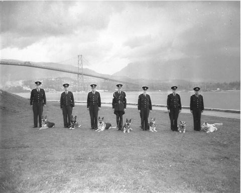 #Vancouver Police Department Dog Squad, 1960