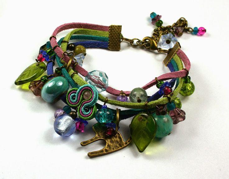Larris handmade soutache and OOAK: Mulitkolor brasoletka/ multicolor bracelet