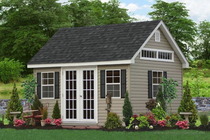 brown garden shed | E50-6201 10x14 Premier Garden Shed Vinyl Vinyl: Clay, Trim: White ...