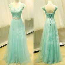 de fiesta vestidos lange kant prom jurken met mouwen 2015 tule vloer lengte elegante formele avondfeest jurk vrouwen jurk(China (Mainland))