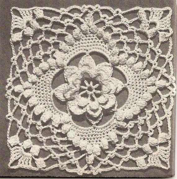 E-BOOK - Motifs and Bedspreads - Instant Download Digital File - 24 Page E-book - Vintage Crochet Pattern - Pattern 67