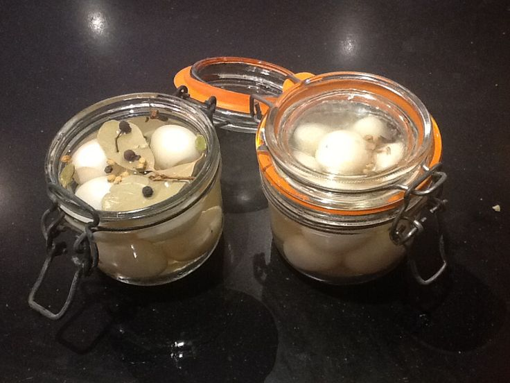Pickled Quail Eggs  This is a sweet pickle, good for vegetables and hen eggs as well. 24 quail eggs boiled for 3 minutes and cooled in cold water - de shell 200ml white wine vinegar  100ml cold water 2 tbsp sugar - dissolved into the vinegar & water. Fill the jars with the eggs, cover with the pickling vinegar, add a few aromatics - peppercorns, all spice etc. Eat after 2 hours or keep in the cupboard for months, turning the jar early on to ensure the 'floaters' get their full dose of…