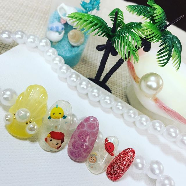 アリエル💅 #セルフネイル#ネイル#ジェル#ジェルネイル#ネイルアート#ネイルデザイン#ディズニー#アリエル#ディズニーネイル#夏#夏ネイル#海#ファッション#disney#nail#nails#gel#gelnail#gelnails#naildesign#nailart#summer#summernails#fashion#sea#instanails#美甲