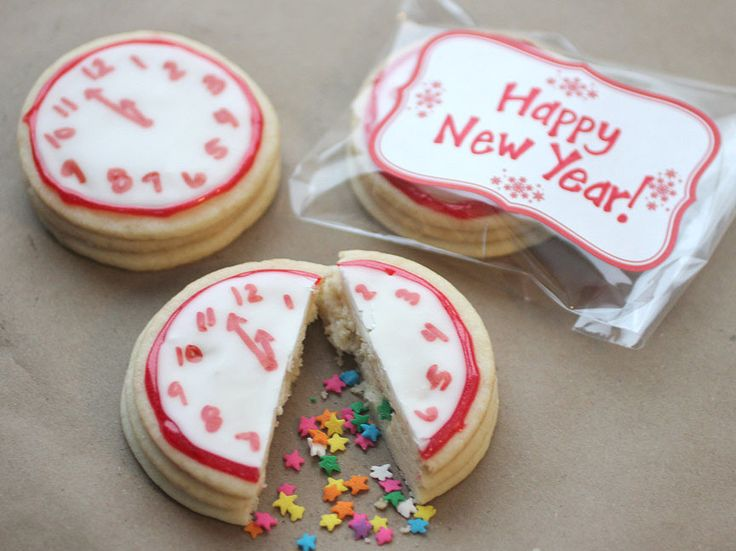 Surprise Happy New Year Cookies