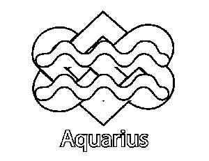 celtic aquarius coloring page